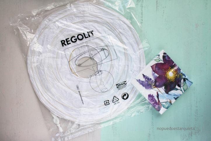 Lámpara REGOLIT IKEA decorada. DIY. Decoupage con servilleta.Lámpara REGOLIT IKEA decorada. DIY. Decoupage con servilleta.