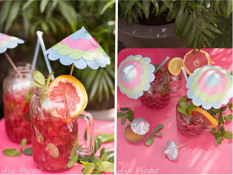 sombrillas de papel cocktail
