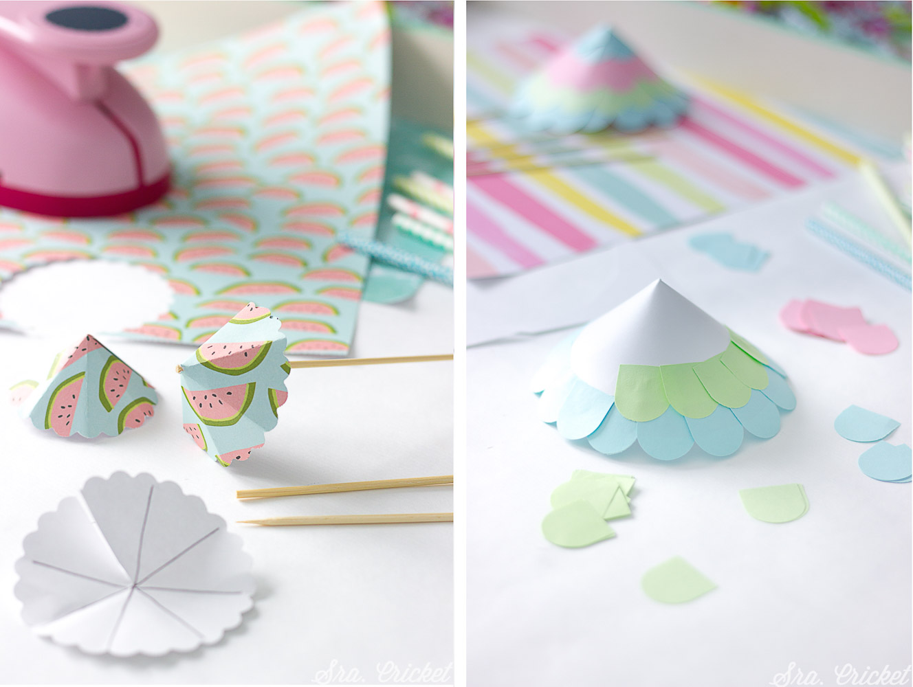 tutorial sombrillas de papel