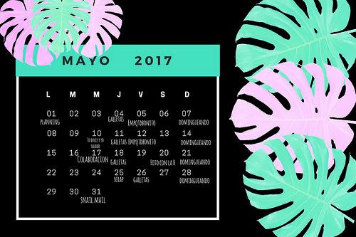 calendario mayo planning