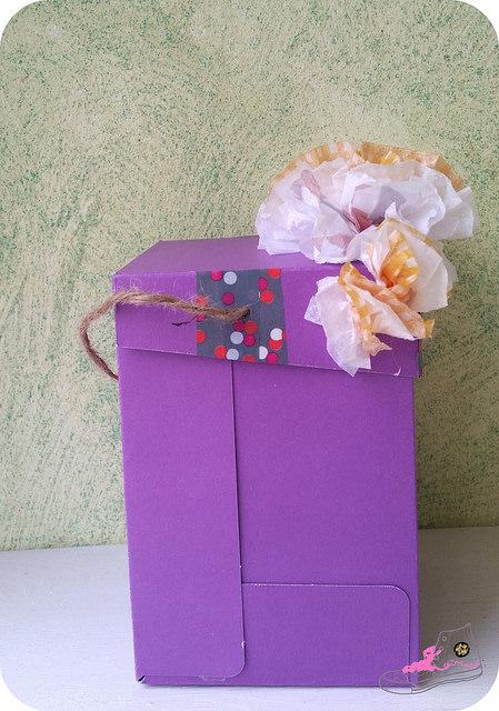 decorando caja para packaging