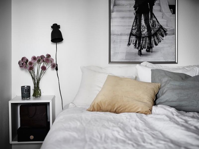 Decorar_con_plantas_de_interior_un_mini_piso_decoinspirción_decolook_detalle_cabezal_dormitorio