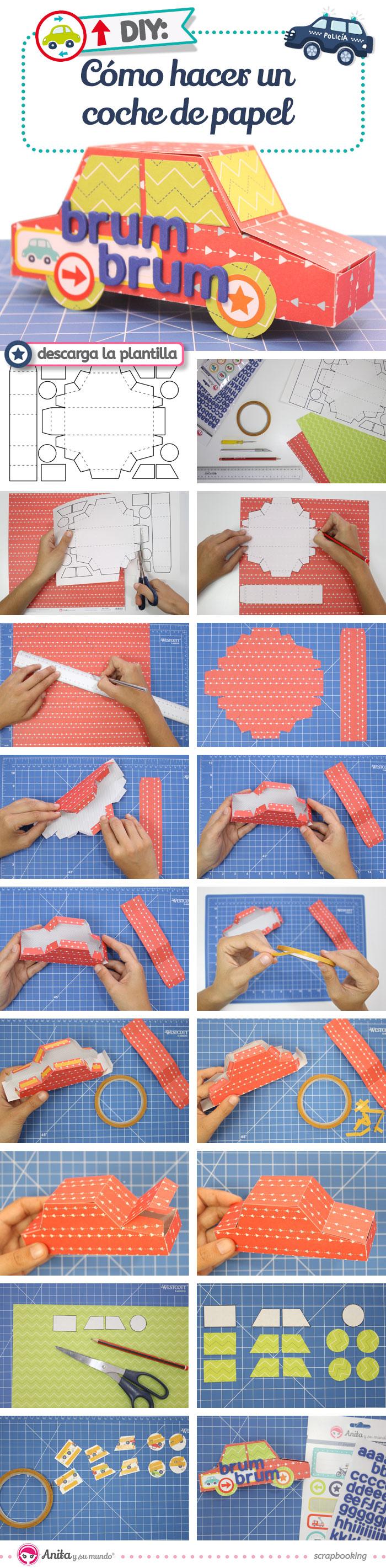 DIY: Caja regalo con forma de coche - Handbox Craft Lovers ...