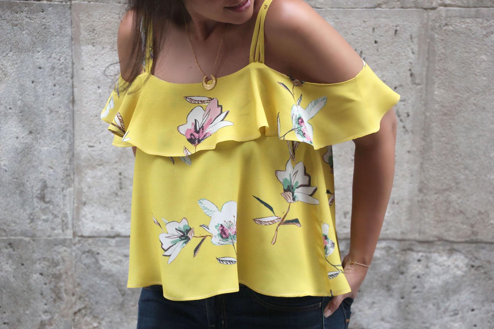 DIY Costura Blusa sin hombros (patrones gratis) - Handbox Craft ...