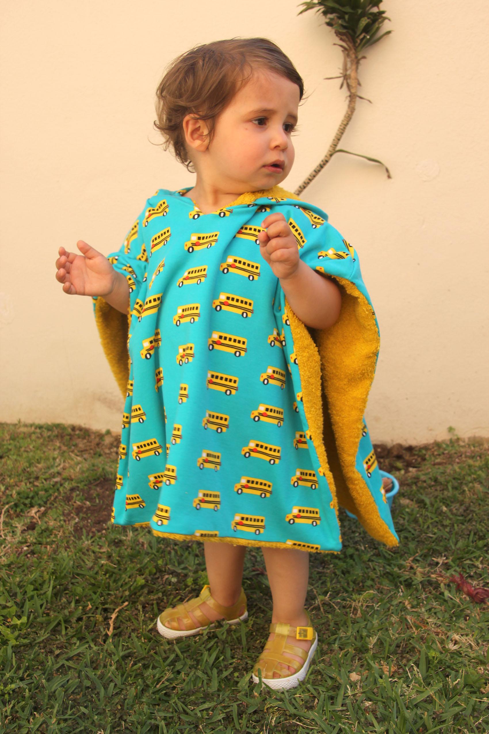 DIY Como hacer poncho toalla para niños (patrones gratis) - Handbox ...