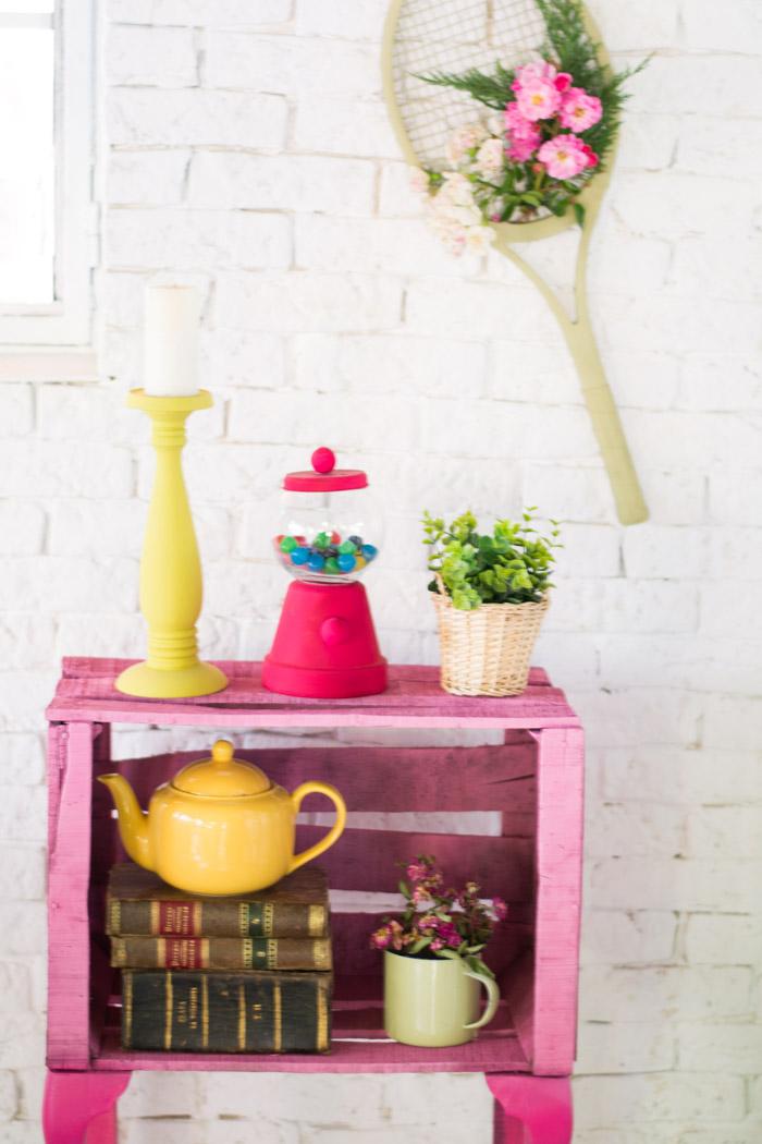 Mueble con caja de fruta diy