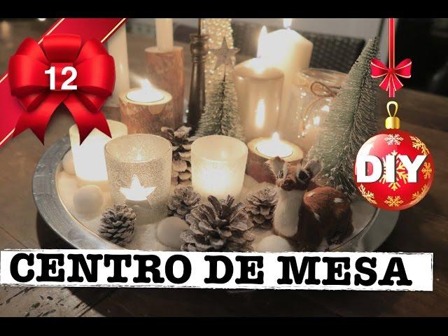 Como Hacer Centro De Mesa Navideno Decoracion Navidad Handbox - Como-hacer-centro-de-navidad