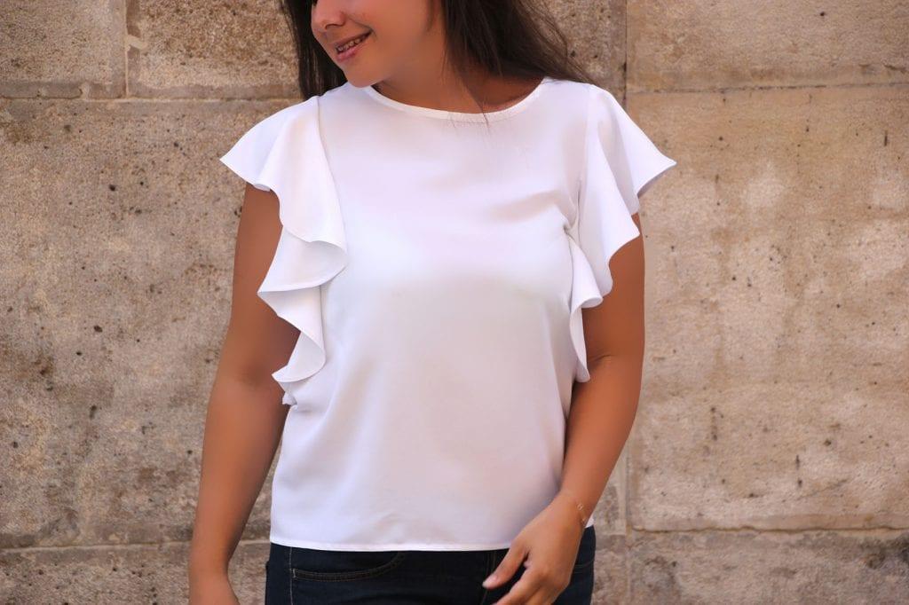 DIY Costura: Como hacer blusa con volantes en las mangas (patrones ...
