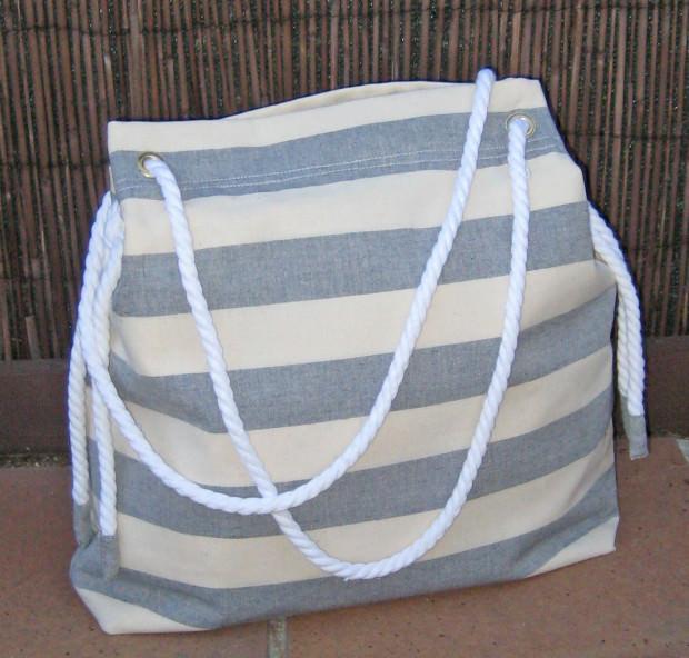 Cómo coser un bolso playero de estilo marinero - Handbox Craft ...