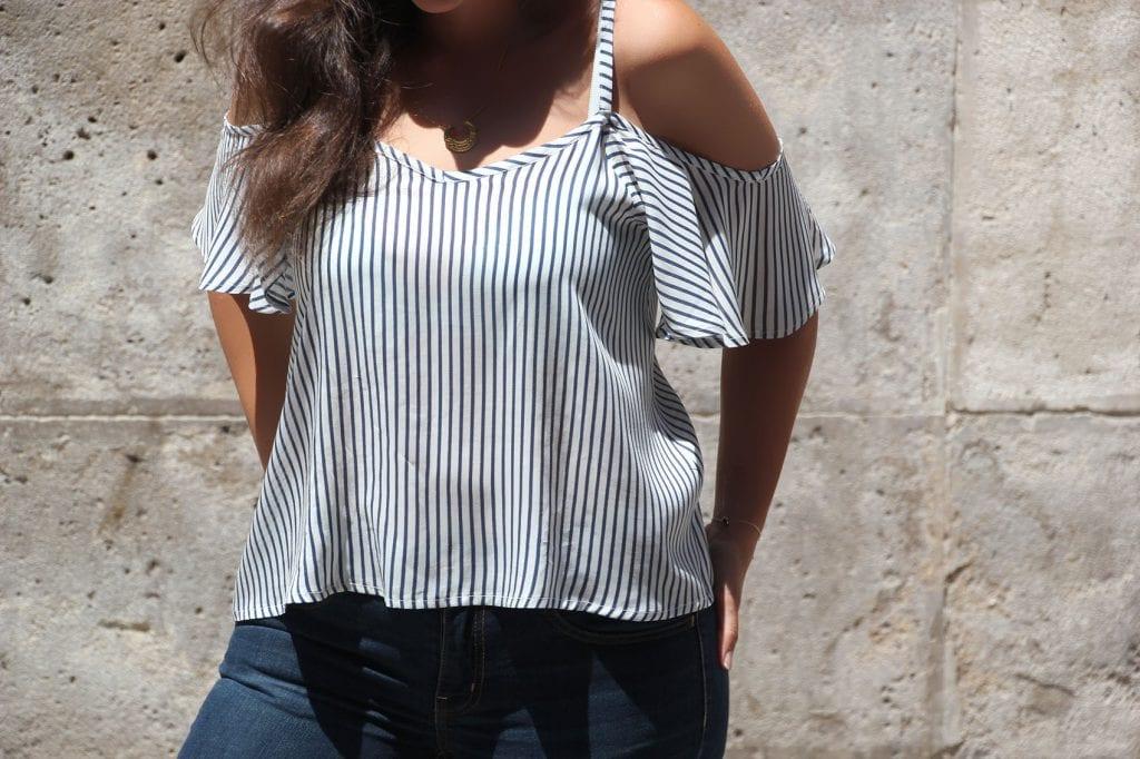 DIY Costura de blusa sin hombros mujer (patrones gratis) - Handbox ...
