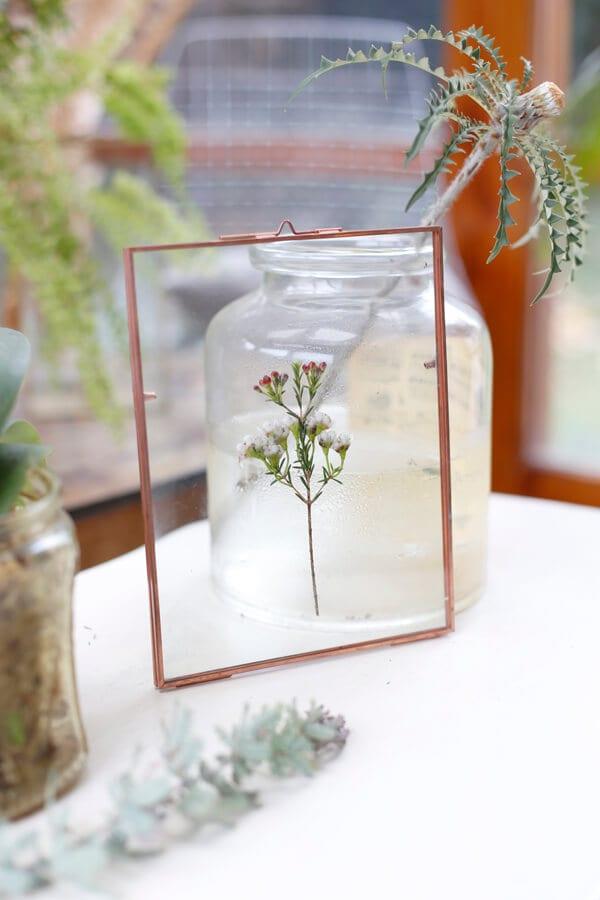 cuadro-hojas-flores-azahar-vidrio-decoracion-wall-plants-mesa