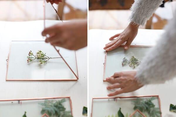 cuadro-hojas-flores-azahar-vidrio-decoracion-wall-plants-paso-paso