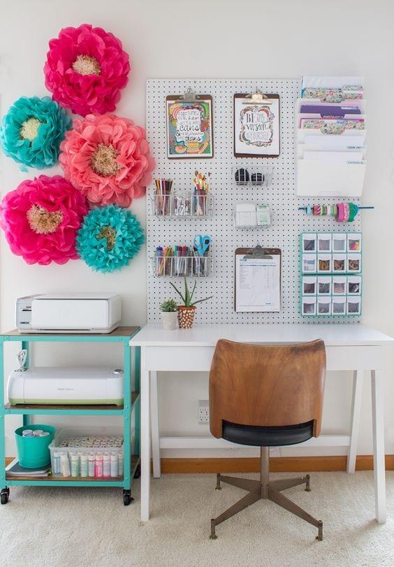 decoracion para fiestas DIY - flores de papel para decorar