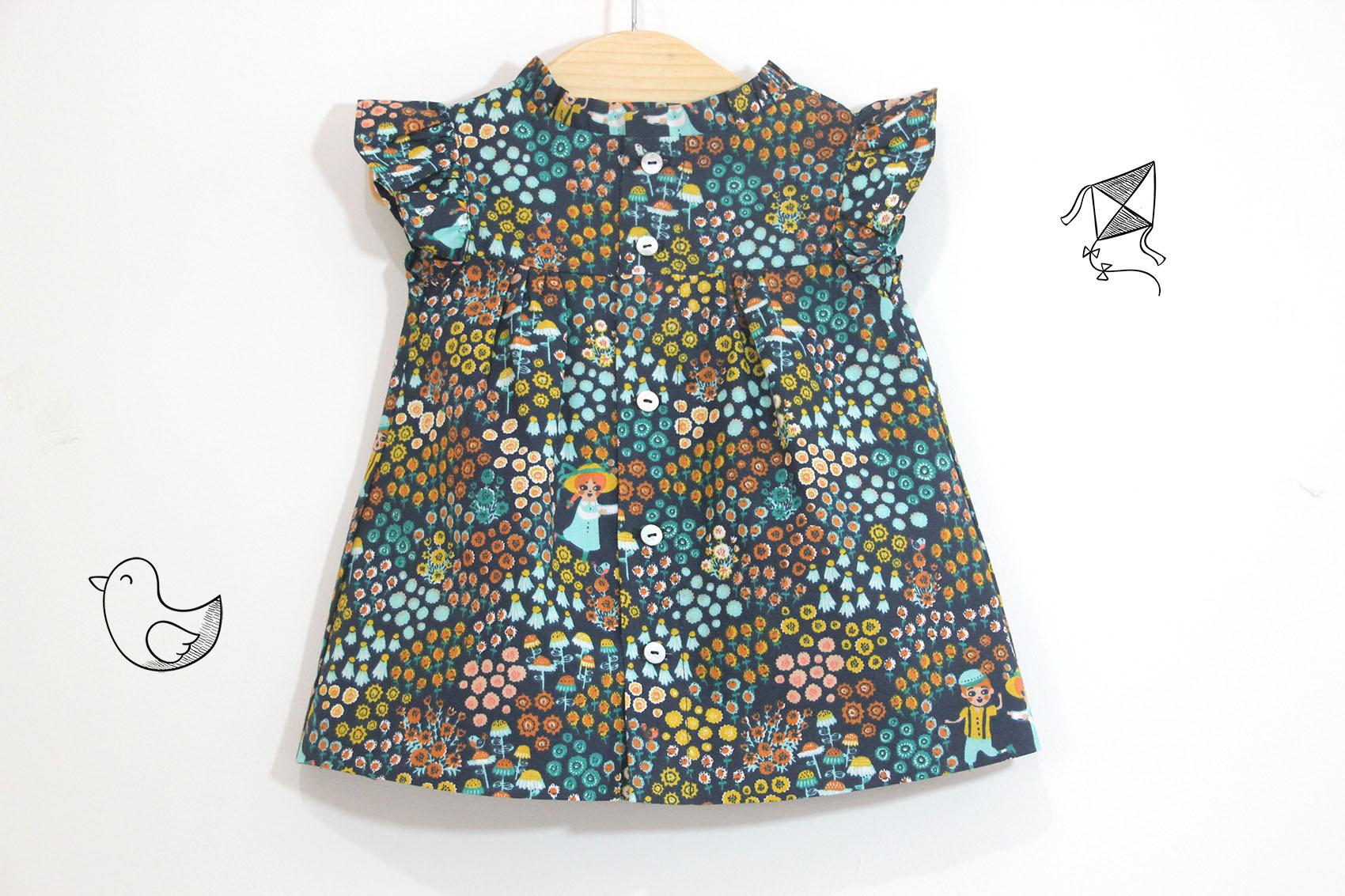 DIY Cómo hacer vestido para niñas (patrones gratis incluidos ...