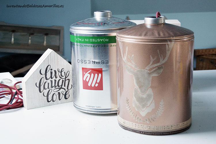 hacer-lampara-con-latas-recicladas