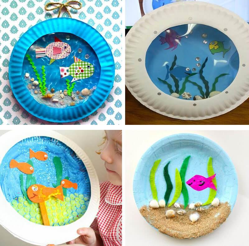 Manualidades marineras para niños con platos de papel - Handbox ...