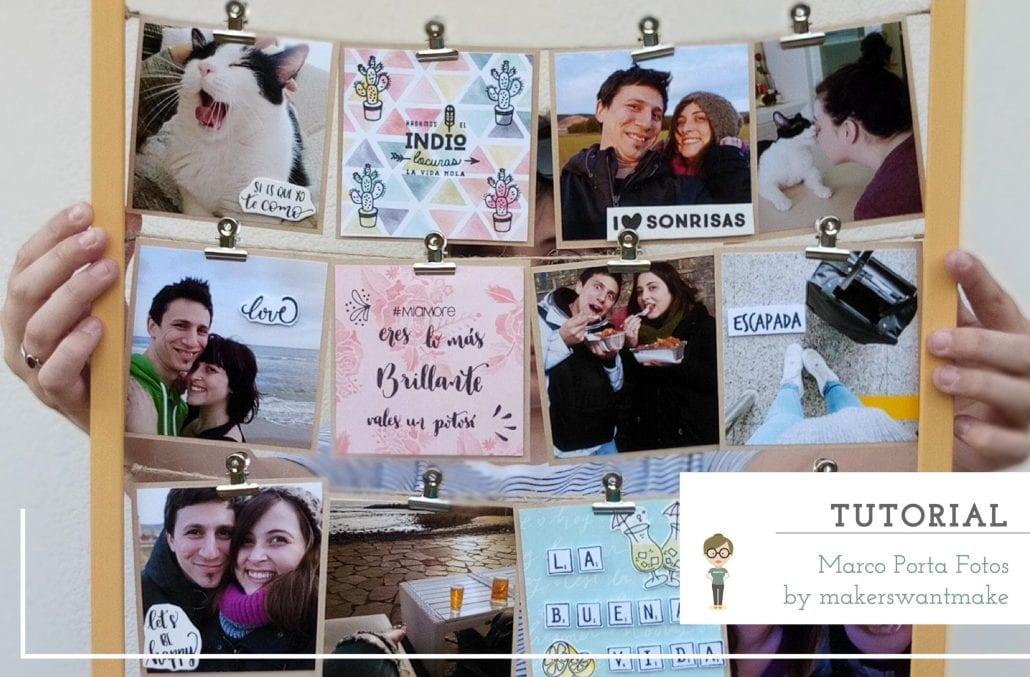 TUTORIAL | Marco porta fotos - Handbox Craft Lovers | Comunidad DIY ...