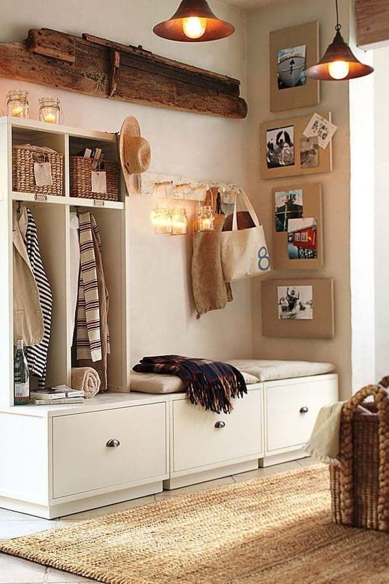 Ideas para integrar un zapatero en tu decoración
