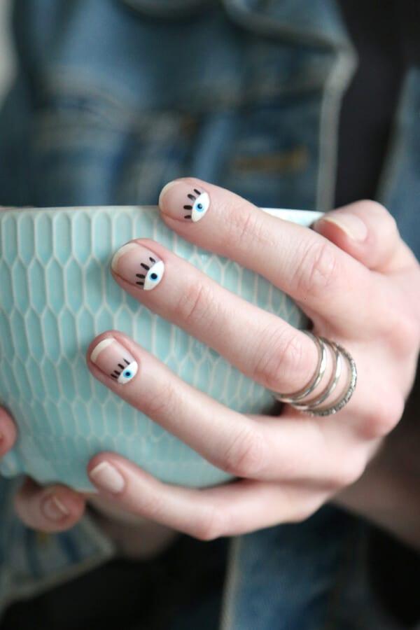 art-nail-ojos-eyes-diy-facil-easy-cup