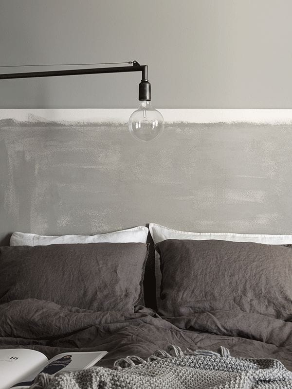 dark grey bed