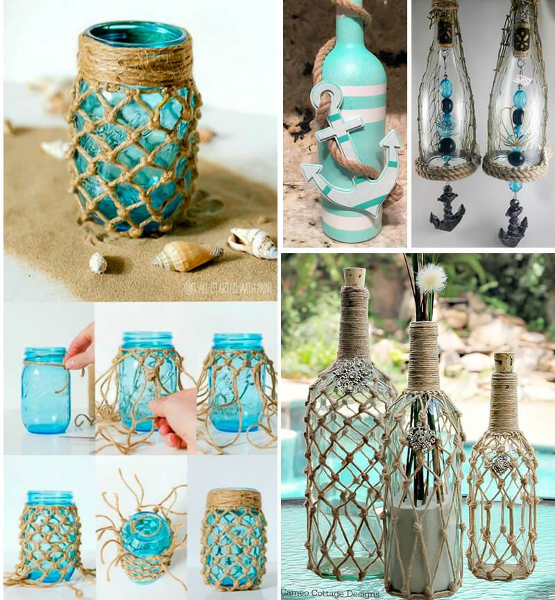 55 Ideas Para Decorar Con Cuerdas Handbox Craft Lovers Comunidad - Decorar-botellas