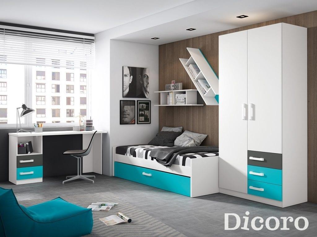 Habitación de adolescente completa