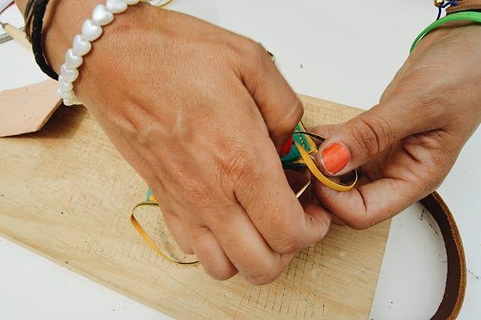 como hacer monedero cuero