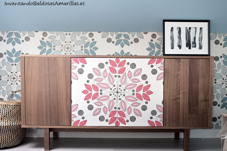 Renovar un aparador de ikea con papel pintado handbox - Papel decorativo para muebles ...