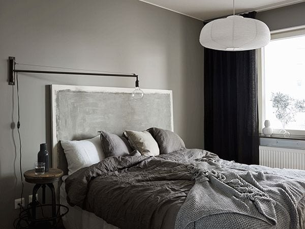 paint grey headboard comodoos interiores