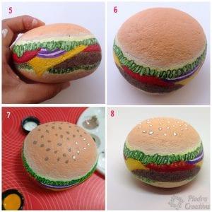 Haciendo el servilletero de hamburguesa en PiedraCreativa