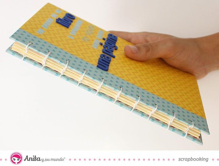 cómo hacer una libreta con encuadernación copta