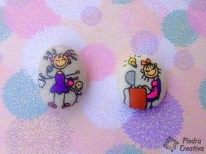 Bloguera y madre en piedras pintadas