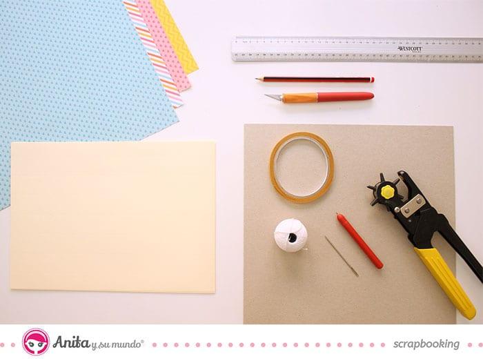 Materiales para hacer una libreta
