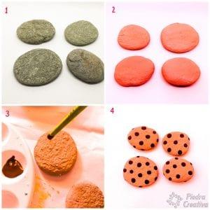 Paso a paso galletas en piedras pintadas