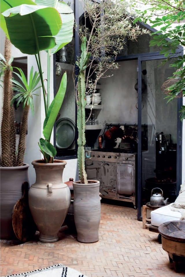 Decoración boho industrial en Marruecos