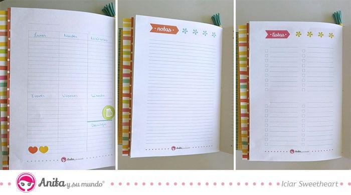 calendario semanal planner sencillo