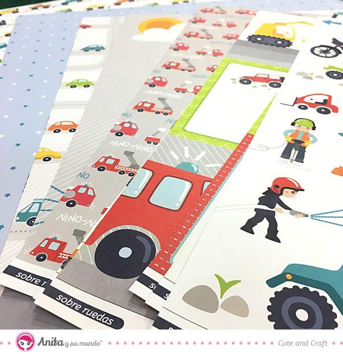 papeles scrap colección sobre ruedas