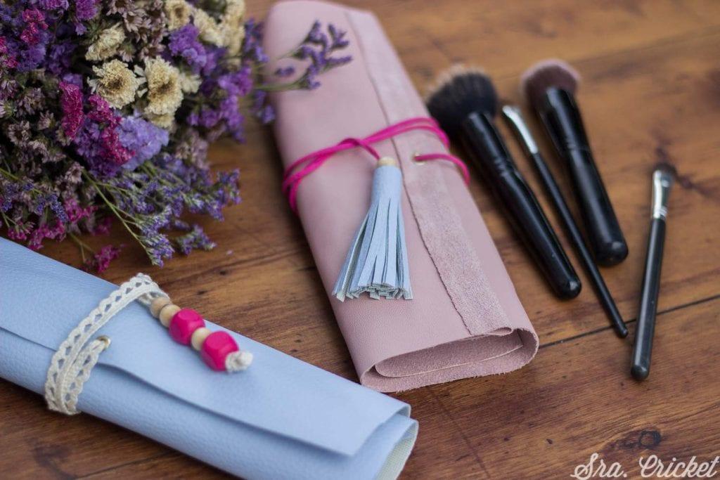 como hacer estuche de piel para lápices