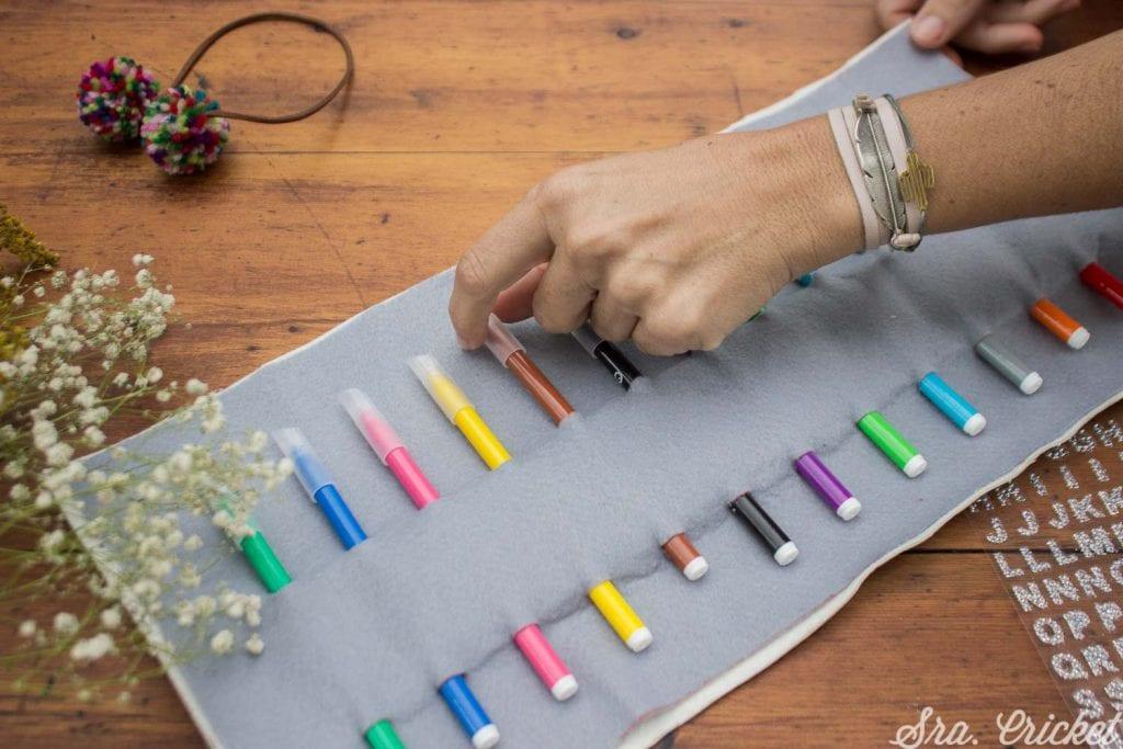 como hacer estuche para lápices y pinturas
