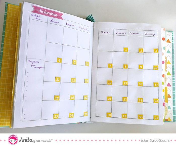 Cuaderno mes a mes planner mensual