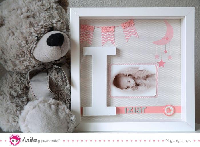 cuadro bebé niña