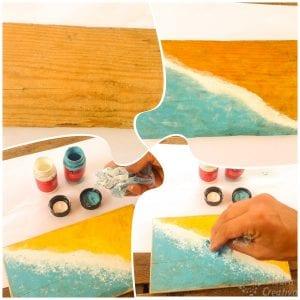 Cuadro para cangrejo de piedras pintadas