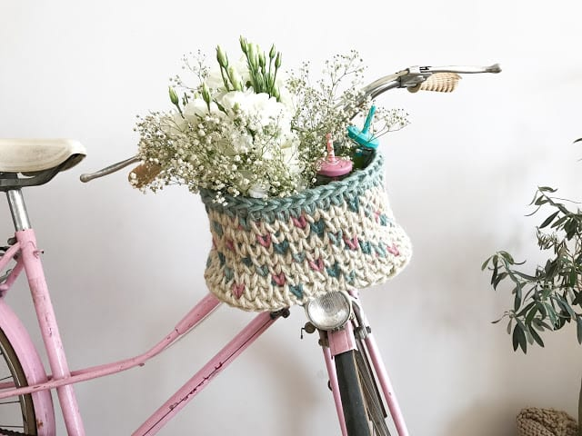 Bike crocheted basket / Cesta de ganchillo para la bici - Handbox ...