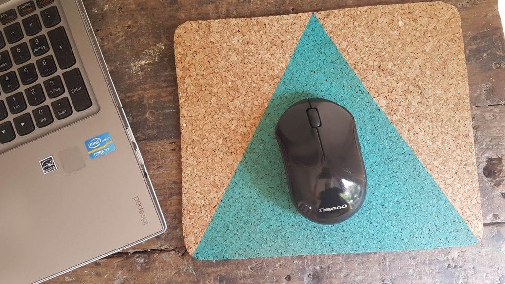 DIY Alfombrilla de raton de corcho - Alfombra terminada