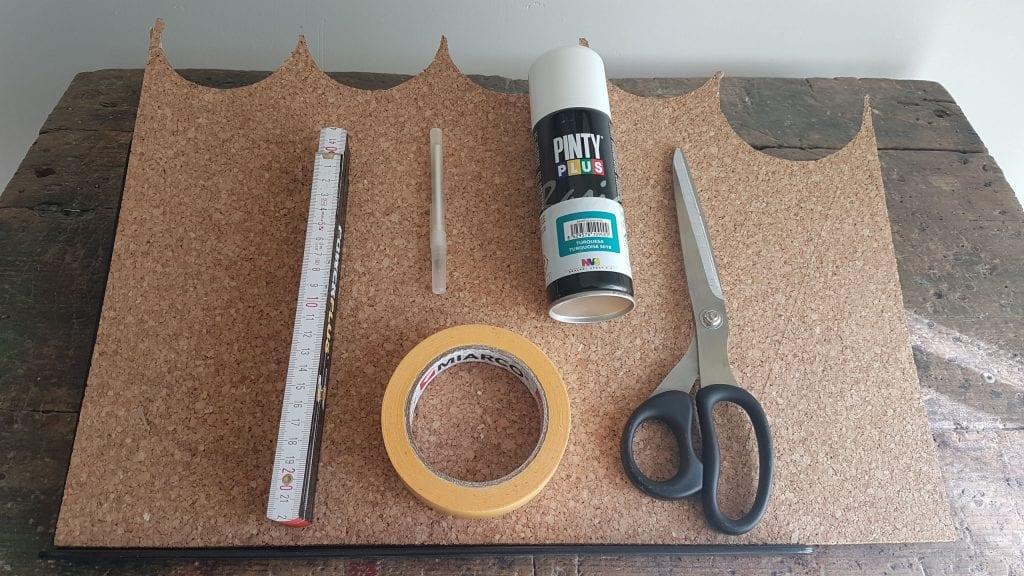 DIY Alfombrilla de raton de corcho - Materiales para este proyecto