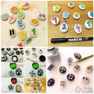 DIY paso a paso piedras pintadas de sumas y restas PiedraCreativa