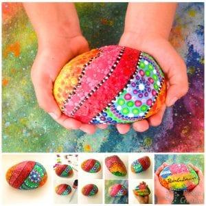 DIY Piedras pintadas sujeta puertas de PiedraCreativa