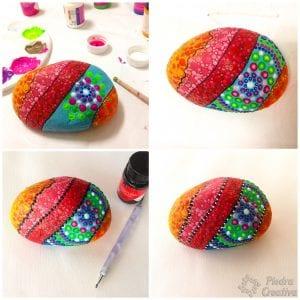 Manualidad piedras pintadas para sujetar puertas