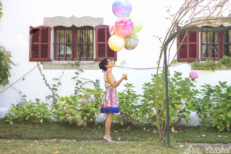 pintar globos con spray