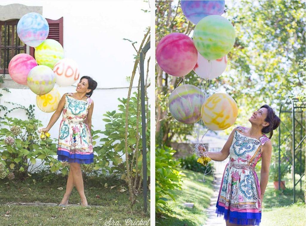 pintar globos painted balloons